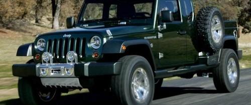 Versiunea Pickup a modelului Jeep Wrangler apare in 2012