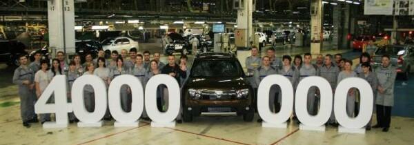 Dacia a produs 4 milioane de vehicule pana in acest moment
