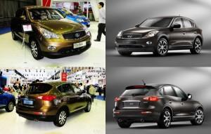 Chinezii prezinta trei noi clone: Infiniti EX, Volkswagen Tiguan si Audi A4
