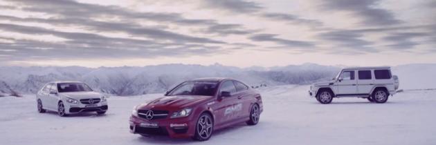 Mercedes-Benz a scos trei AMG-uri la joaca in zapada
