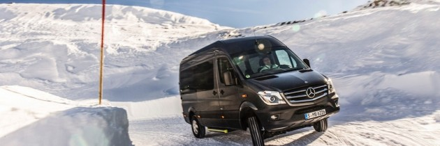 Mercedes-Benz Sprinter poate fi capabil si in off-road