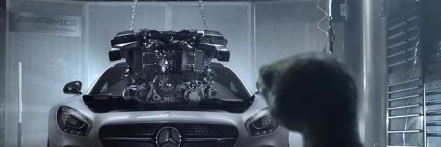Mercedes AMG GT, promovat cu ajutorul unei animatii