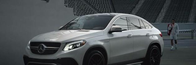 Mercedes promoveaza noul AMG GLE63 S Coupe cu ajutorul lui Federer