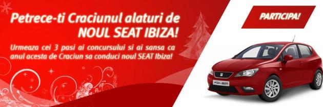 Petrece-ti Craciunul alaturi de noul SEAT Ibiza!