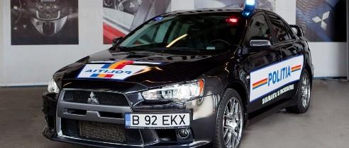 Un nou Mitsubishi Lancer Evo X pentru Politia Rutiera