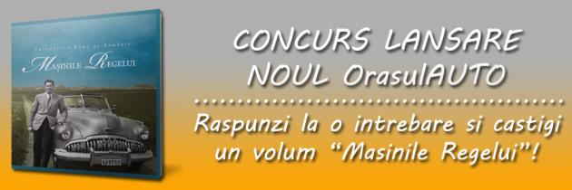 CONCURS: Raspunzi la o intrebare si castigi un volum Masinile Regelui!