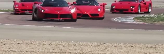 Ferrari F40, F50, Enzo si LaFerrari, conduse pe circuit de Dario Benuzzi