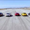Zece masini sport si o cursa de 400 de metri. Cine castiga?!